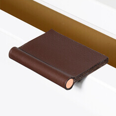 Leather edge pulls in 2 sizes and 21 colors - VERONA