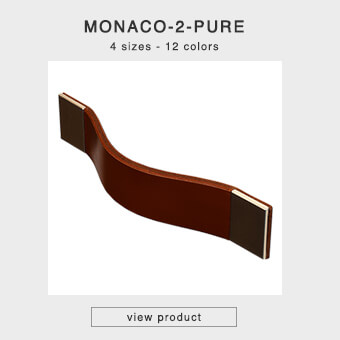 Cabinet handles made of leather in four sizes and 12 colors - MONACO-2-PURE