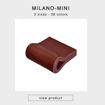 Leather handles for drawers in 3 sizes and 35 colors - MILANO-MINI