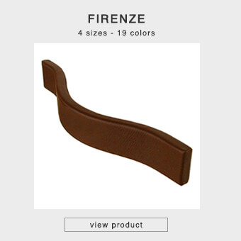 Leather handle for furniture in 4 sizes and 18 colors - FIRENZE-PURE -