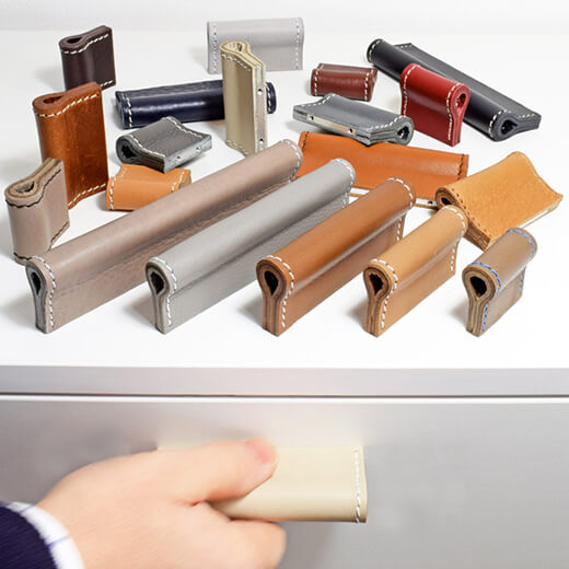 Leather handles for all types of furniture