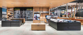 Ledergriff MILANO-PURE in Shopeinrichtung
