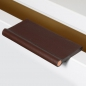 Preview: Furniture handle VERONA in leather Cordovan with copper rod
