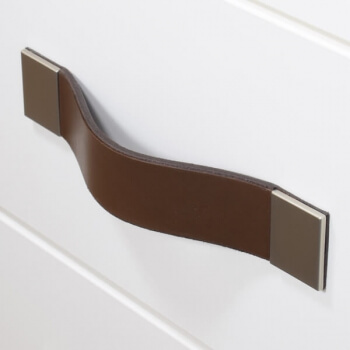 drawer handles made from leather