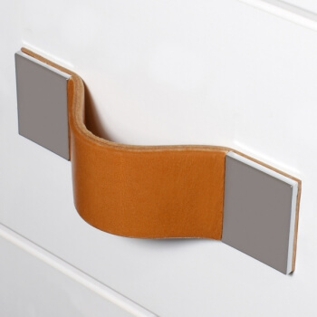 Exclusive drawer leather handle