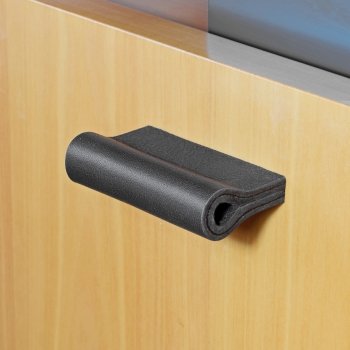 Leather furniture handle gray