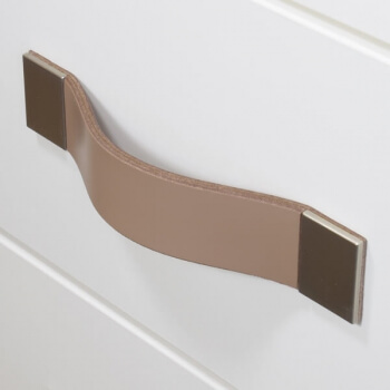 Leather furniture handle