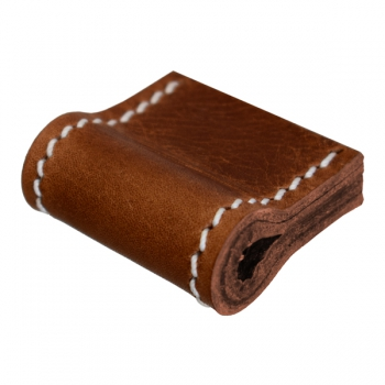 furniture handle made from vintage leather in brown