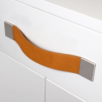 drawer handles made from luxury leather