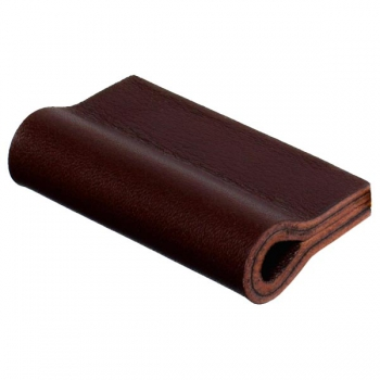 Leather loops MILANO-PURE in mahogany by minimaro - luxury furniture handles