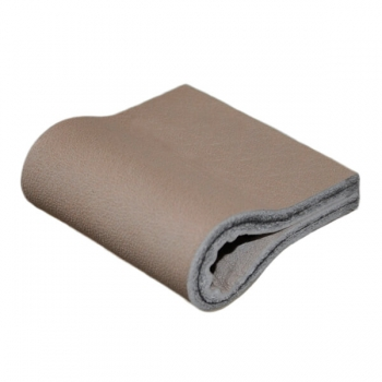 leather handle in color taupe